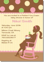 Pickles & Ice Cream - Baby Shower Invitations