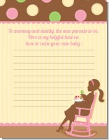 Pickles & Ice Cream - Baby Shower Notes of Advice