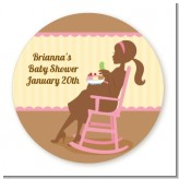 Pickles & Ice Cream - Round Personalized Baby Shower Sticker Labels