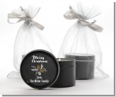 Pine Cones - Christmas Black Candle Tin Favors