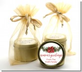 Pinecone Wreath - Christmas Gold Tin Candle Favors