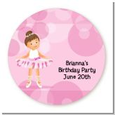 Ballet Dancer - Round Personalized Birthday Party Sticker Labels