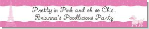Pink Poodle in Paris - Personalized Baby Shower Banners