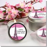 Pink Poodle in Paris - Baby Shower Candle Favors