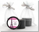 Pink Poodle in Paris - Birthday Party Black Candle Tin Favors
