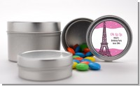 Pink Poodle in Paris - Custom Baby Shower Favor Tins