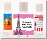 Pink Poodle in Paris - Personalized Birthday Party Hand Sanitizers Favors