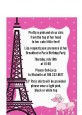 Pink Poodle in Paris - Baby Shower Petite Invitations thumbnail