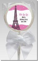 Pink Poodle in Paris - Personalized Baby Shower Lollipop Favors