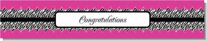 Zebra Print Pink - Personalized Birthday Party Banners
