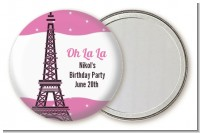Pink Poodle in Paris - Personalized Birthday Party Pocket Mirror Favors
