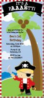 Pirate - Birthday Party Tall Invitations