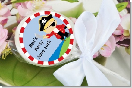 Pirate - Personalized Birthday Party Lollipop Favors