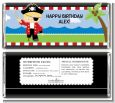Pirate - Personalized Birthday Party Candy Bar Wrappers thumbnail