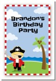 Pirate - Custom Large Rectangle Birthday Party Sticker/Labels