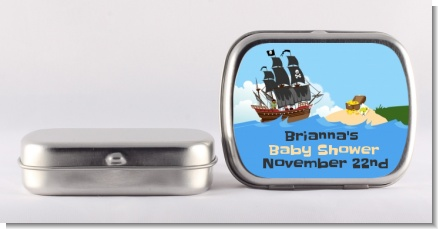 Pirate Ship - Personalized Baby Shower Mint Tins