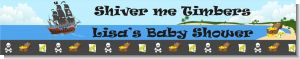 Pirate Ship - Personalized Baby Shower Banners