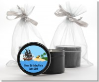 Pirate Ship - Baby Shower Black Candle Tin Favors