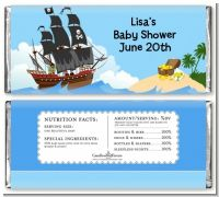 Pirate Ship - Personalized Baby Shower Candy Bar Wrappers