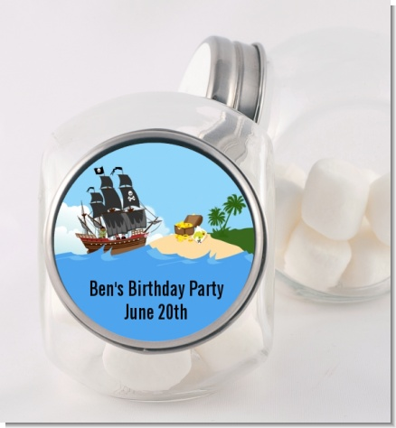 Pirate Ship - Personalized Birthday Party Candy Jar