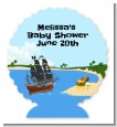 Pirate Ship - Personalized Baby Shower Centerpiece Stand thumbnail