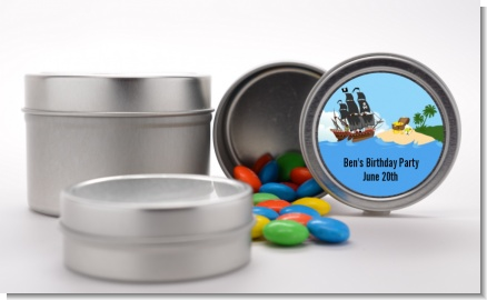 Pirate Ship - Custom Birthday Party Favor Tins