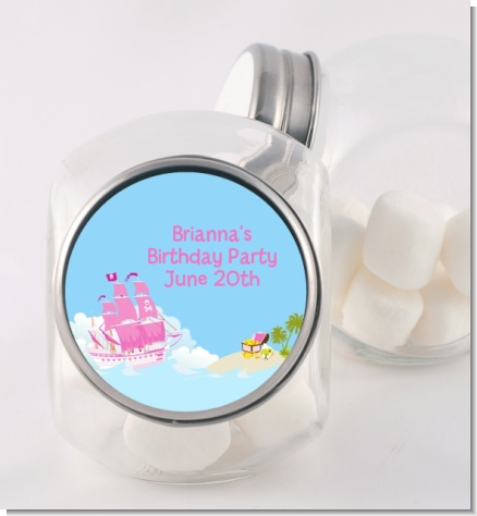Pirate Ship Girl - Personalized Birthday Party Candy Jar