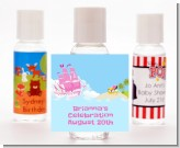 Pirate Ship Girl - Personalized Birthday Party Hand Sanitizers Favors
