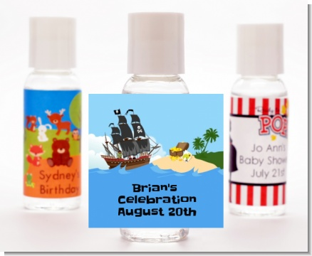 Pirate Ship - Personalized Baby Shower Hand Sanitizers Favors