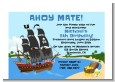 Pirate Ship - Baby Shower Petite Invitations thumbnail
