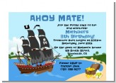 Pirate Ship - Baby Shower Petite Invitations