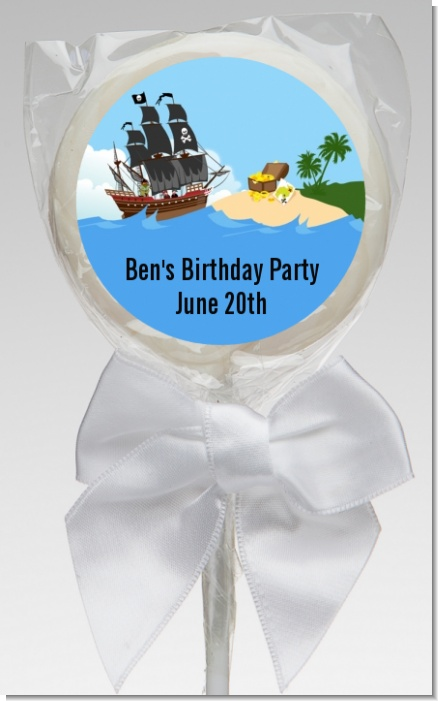 Pirate Ship - Personalized Baby Shower Lollipop Favors