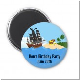 Pirate Ship - Personalized Baby Shower Magnet Favors