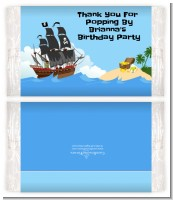 Pirate Ship - Personalized Popcorn Wrapper Birthday Party Favors