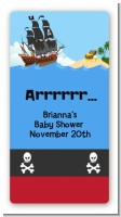 Pirate Ship - Custom Rectangle Baby Shower Sticker/Labels