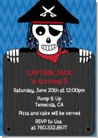 Pirate Skull - Birthday Party Invitations