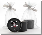 Pirate Skull - Birthday Party Black Candle Tin Favors