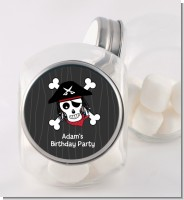 Pirate Skull - Personalized Birthday Party Candy Jar