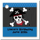 Pirate Skull - Personalized Birthday Party Card Stock Favor Tags