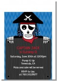 Pirate Skull - Birthday Party Petite Invitations