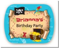 Pirate Treasure Map - Personalized Birthday Party Rounded Corner Stickers