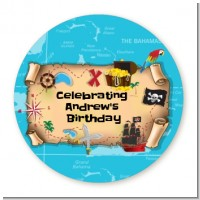 Pirate Treasure Map - Personalized Birthday Party Table Confetti