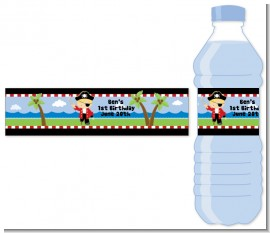 Pirate - Personalized Birthday Party Water Bottle Labels