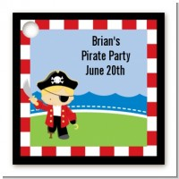 Pirate - Personalized Birthday Party Card Stock Favor Tags