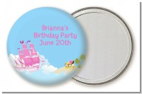 Pirate Ship Girl - Personalized Birthday Party Pocket Mirror Favors