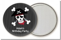 Pirate Skull - Personalized Birthday Party Pocket Mirror Favors