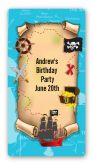 Pirate Treasure Map - Custom Rectangle Birthday Party Sticker/Labels