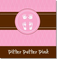 Tiny Toes Pitter Patter Girl Baby Shower Theme