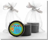 Pizza Party - Birthday Party Black Candle Tin Favors