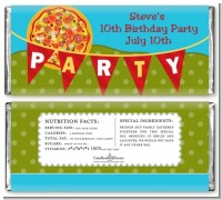 Pizza Party - Personalized Birthday Party Candy Bar Wrappers